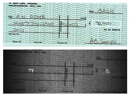 Photo of bank check